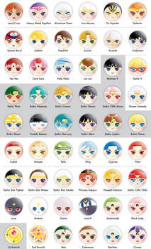 Sailor Moon Button Designs