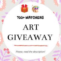 [ OPEN ] 700+ Watchers Art Giveaway! by Aisudi