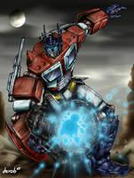 Optimus Prime Blast by derob2511