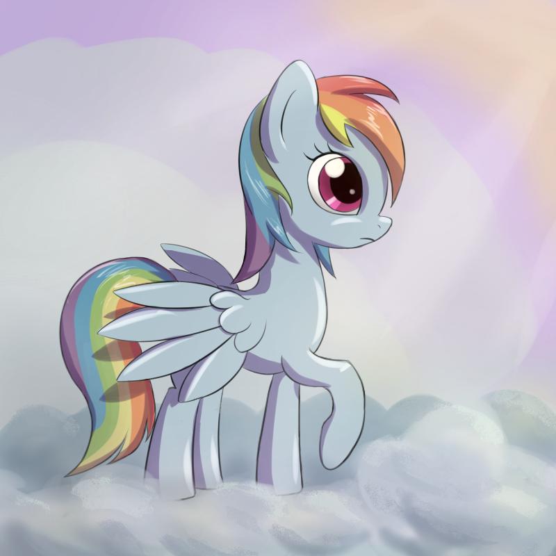 Rainbow Dash by fajeh
