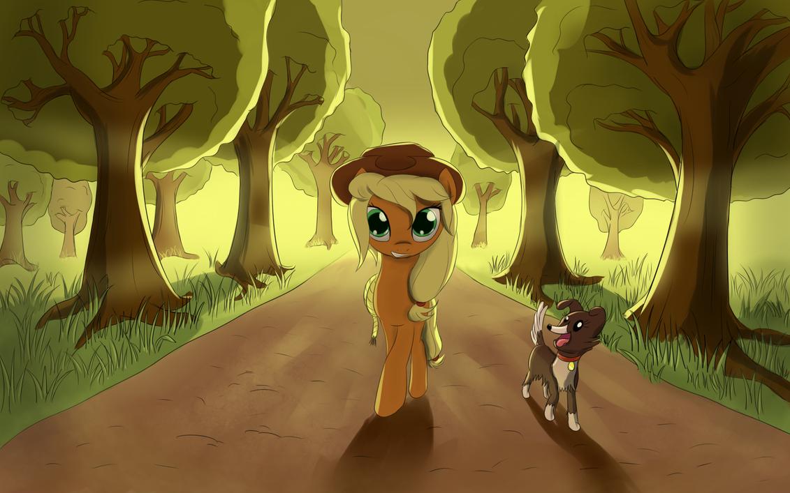 An apple alley by fajeh