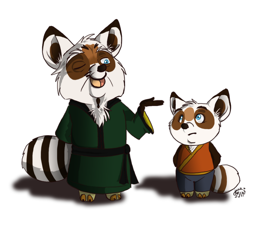 Koto and Shifu by KeysaMoguri