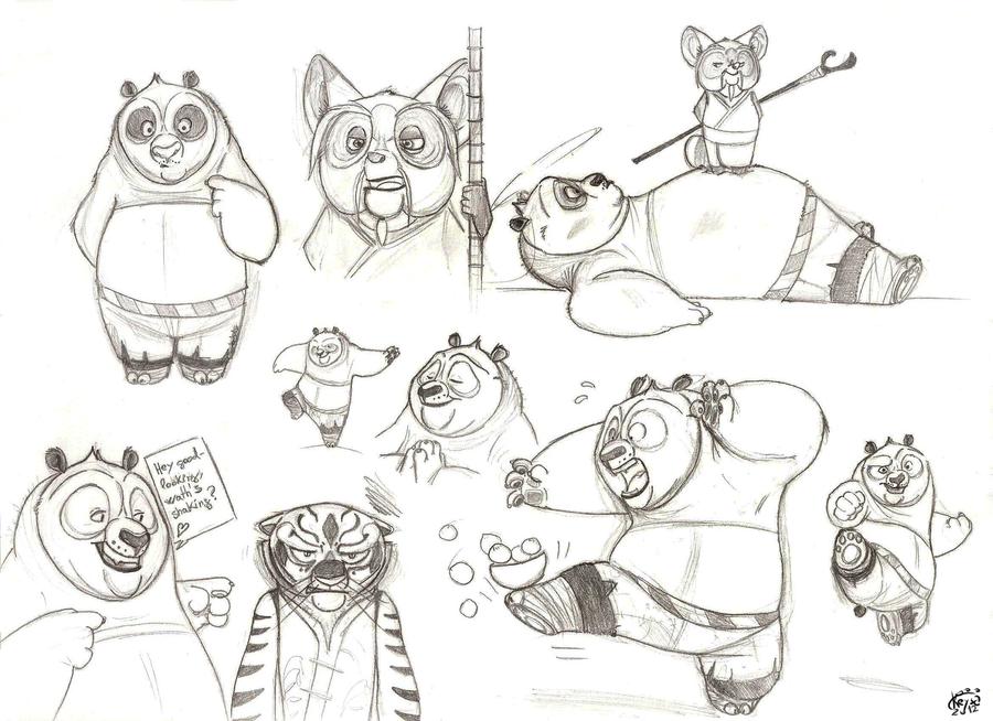 Kung Fu Panda doodles by KeysaMoguri