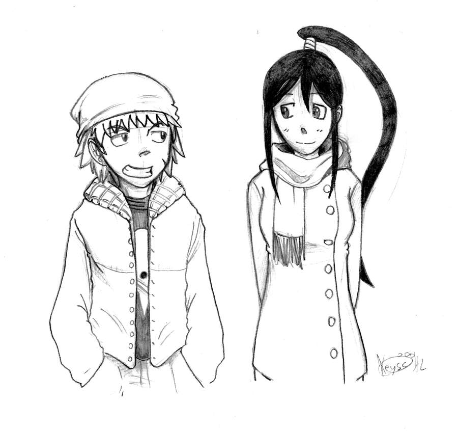 Winter: Black Star and Tsubaki by KeysaMoguri