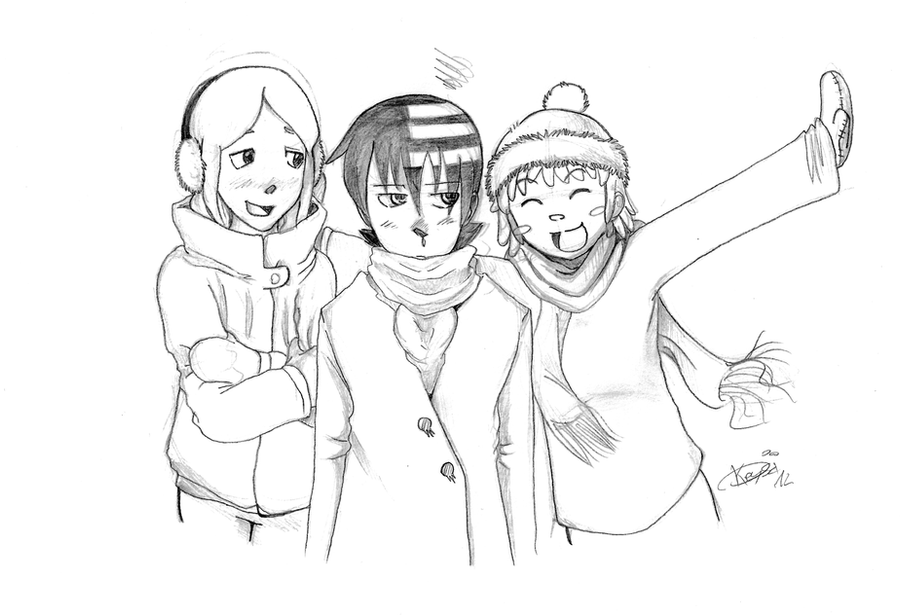 Winter: Kid, Liz and Patty by KeysaMoguri