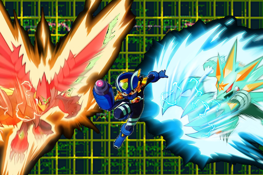 Rockman EXE Beast Out by AlcatrazEX on DeviantArt