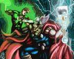 Thor vs. The Green Lantern