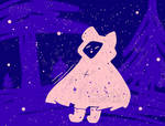 Galaxy Cloak Doodle [oc art] by Meoskyan