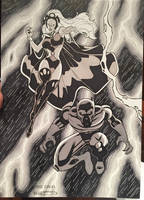Storm and Black Panther Commission by GSX750