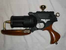 Steam Punk NERF Gun 'Tsarist Fury' Wood Grip by MarcWF