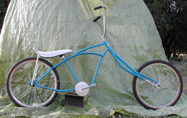 Custom Chopper Bicycle - Blue Huffy Beach Cruiser by ...