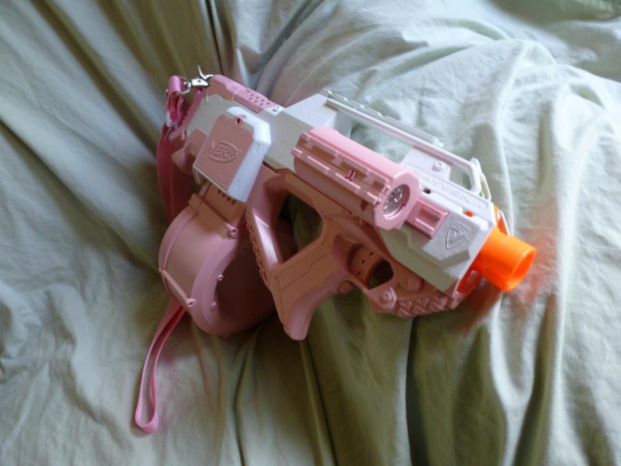 HvZ Custom Pink NERF Rayven by MarcWF