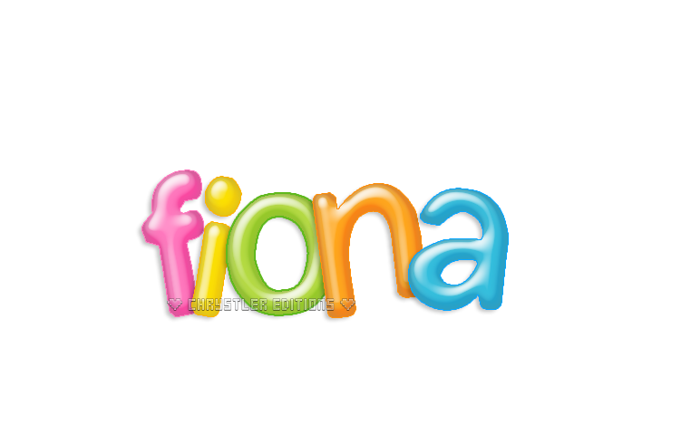 +Fiona Rainbow Text Logo PNG