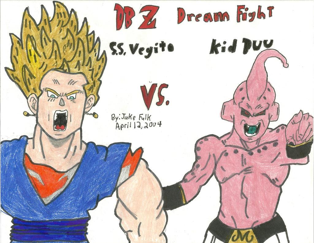 Vegito vs. Kid Buu by IncredibleFulk1 on DeviantArt