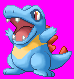 Totodile Sprite_Pixelart by purple-hill