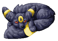 Umbreon Pixelart by purple-hill