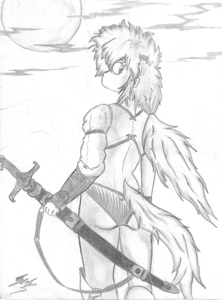 Girl With Sword Drawing | www.imgkid.com - The Image Kid ...