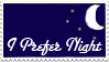 I Prefer Night Stamp by TheLittleMeep