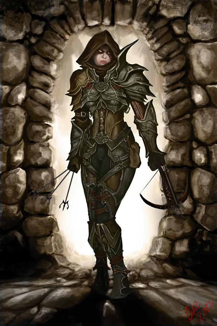how to draw diablo 3 demon hunter