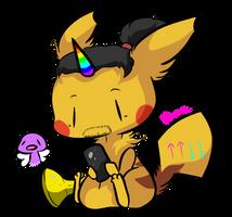 Xavier woods pikachu by Myumimon