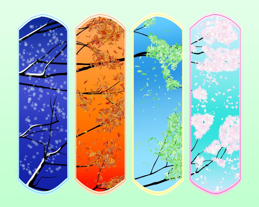The Seasons by pigmonkeynsuzi