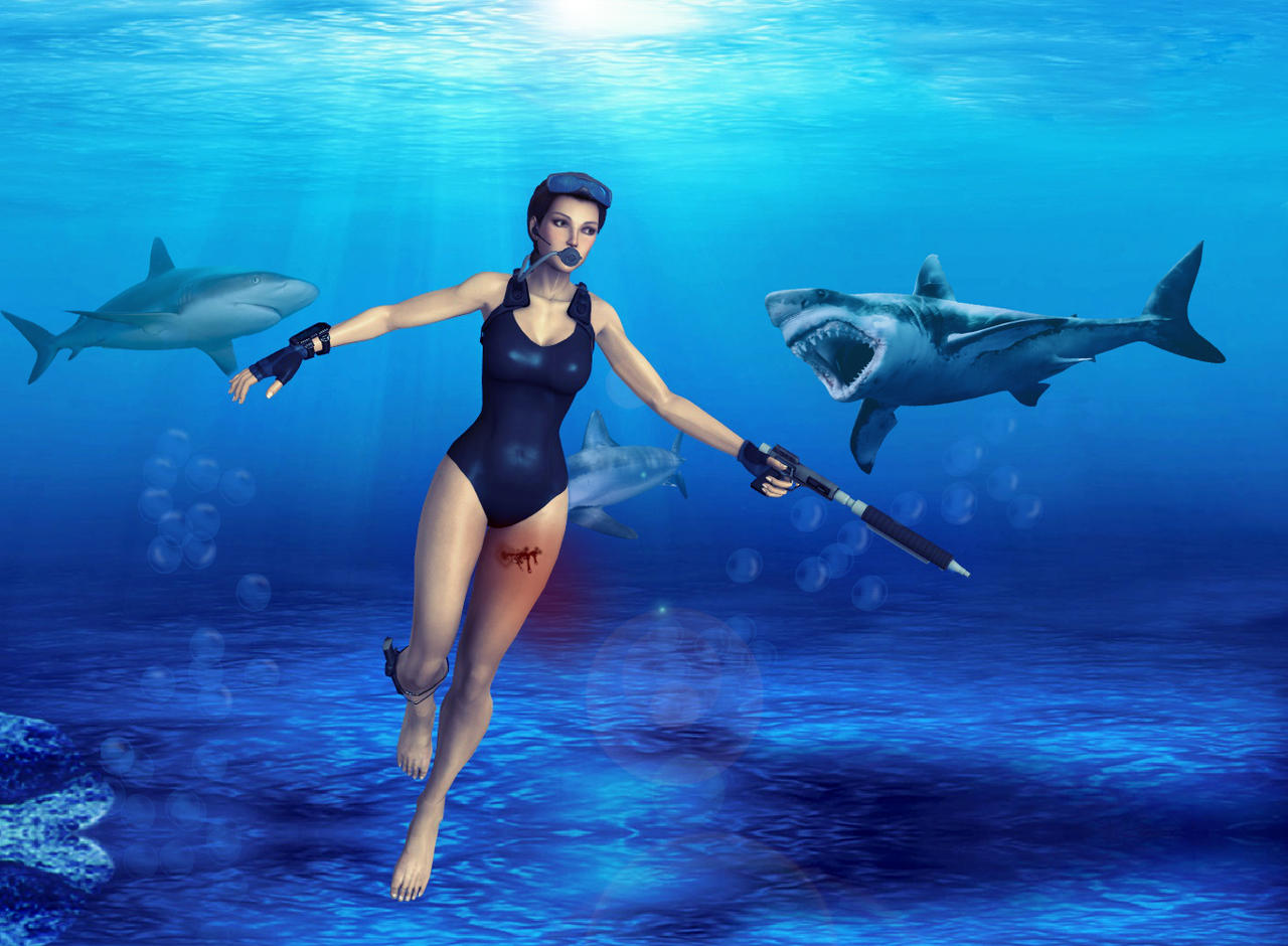 Swim by luciferFlash on DeviantArt | Swimming, Lara croft