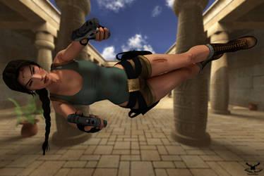 Tomb Raider - Jump + Shoot