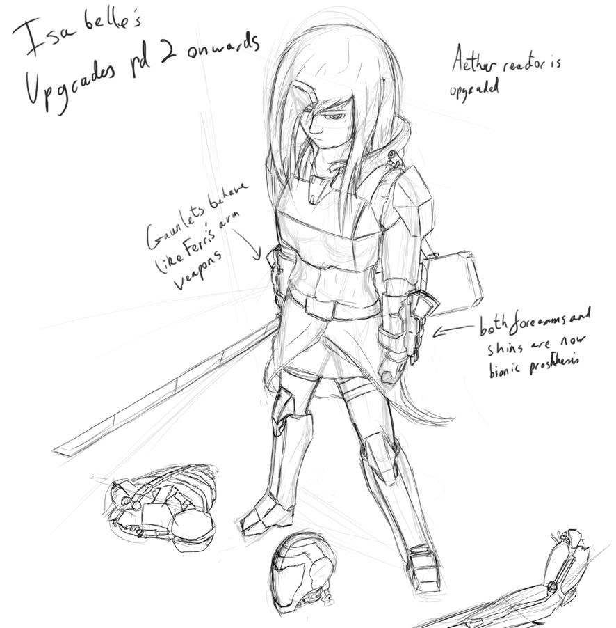 Isabelle upgrades sketch by Lazarus-Firenze