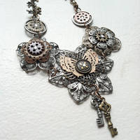 Steampunk Flower Necklace by NBetween