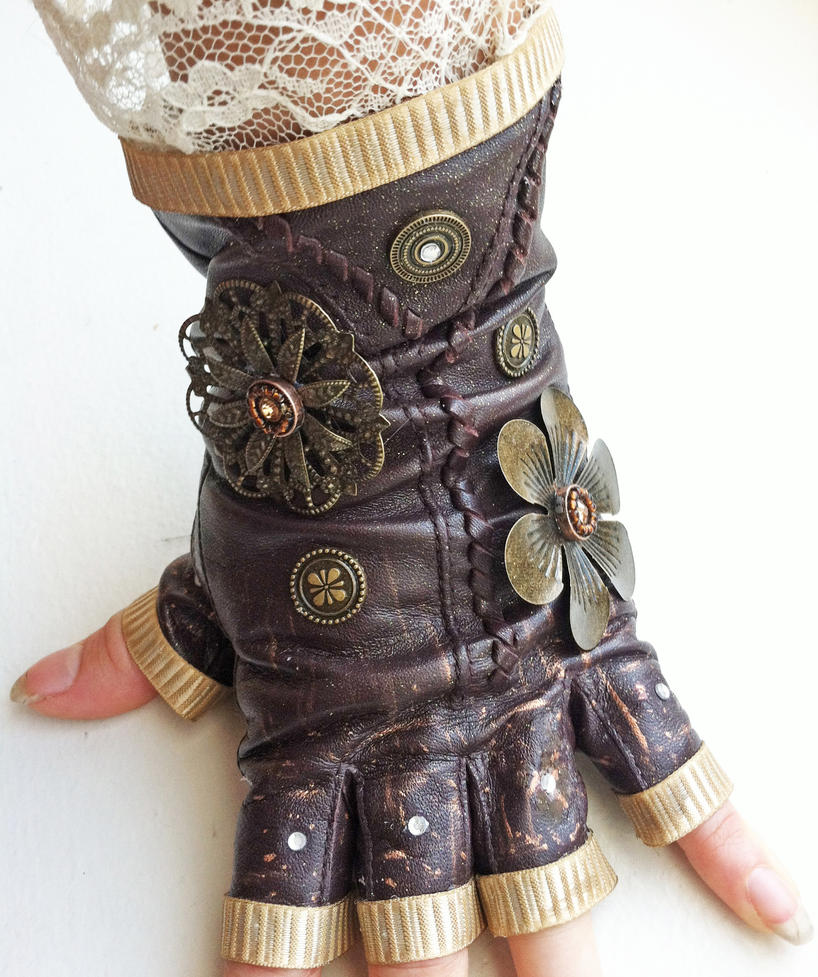 Lacy steampunk glove by nbetween on deviantart for Steampunk arts and crafts