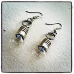 Steampunk Lightbulb Earrings