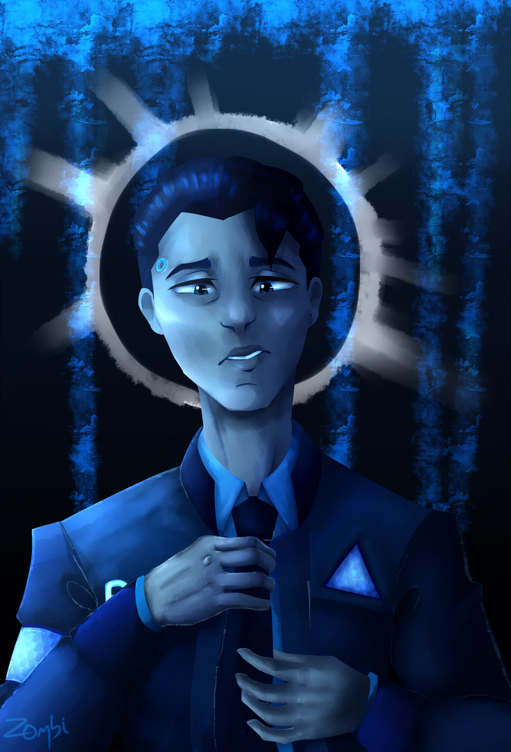 Blue   Connor - Detroit: Become Human by TheUndeadZombi