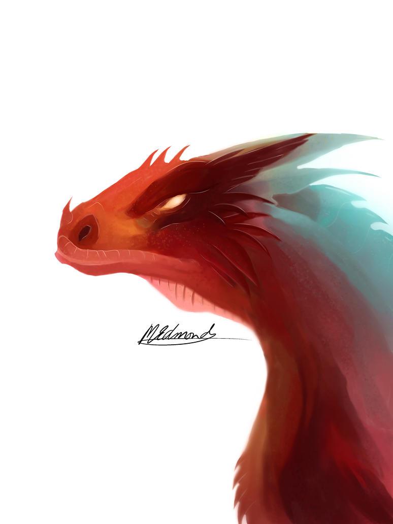 Smaug giganteus lizard dragon design HEAD by Sun-Dragoness