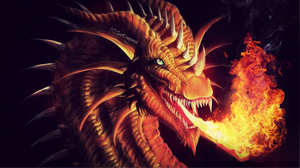 Dragons flame