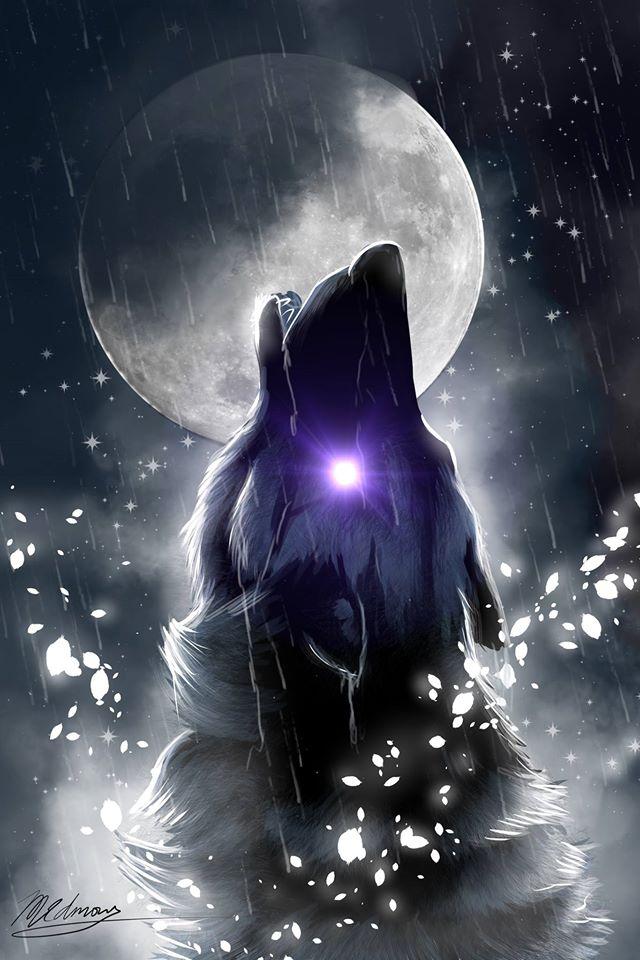 Moon Light Howl by Sun-Dragoness