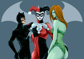 DC :: Gotham City Sirens by Nuxcia