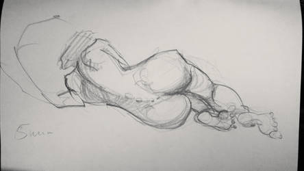Life drawing lady