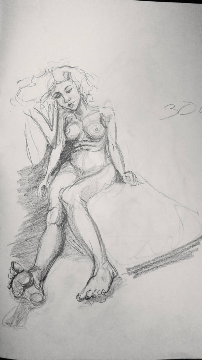 Life drawing lady 2
