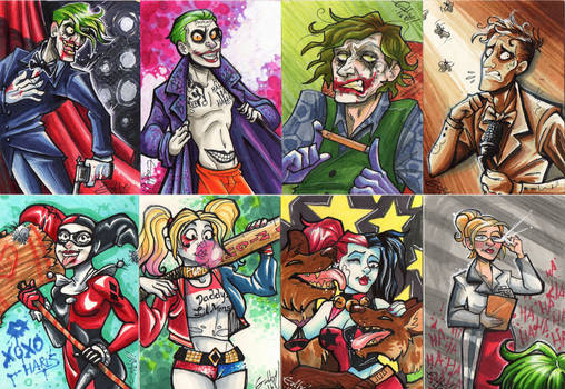 Joker and Harley Art Cards