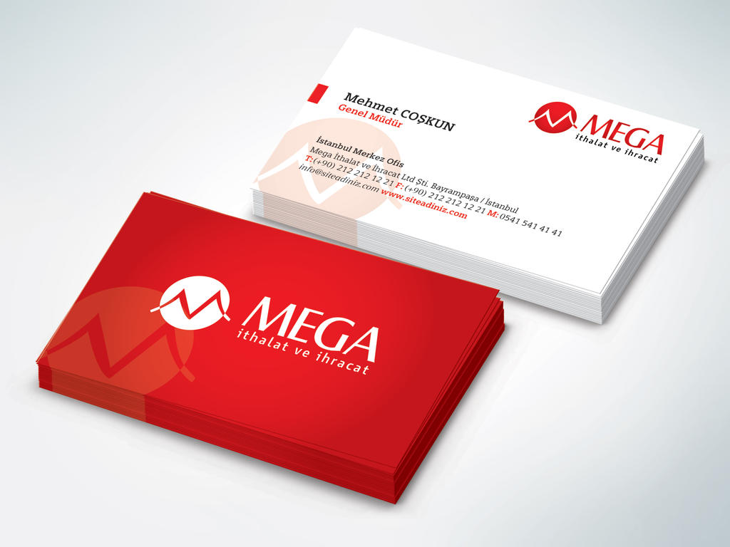Mega Imports Logo and Business Card Version 4 by webhancher on ...