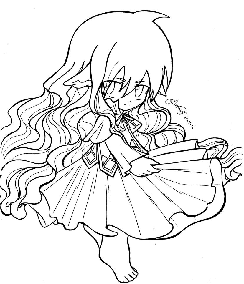 tails coloring page - fairy tail chibi mavis vermilion by tifayuy on deviantart