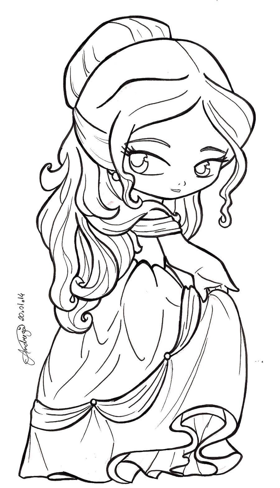 disney chibis coloring pages - photo#16