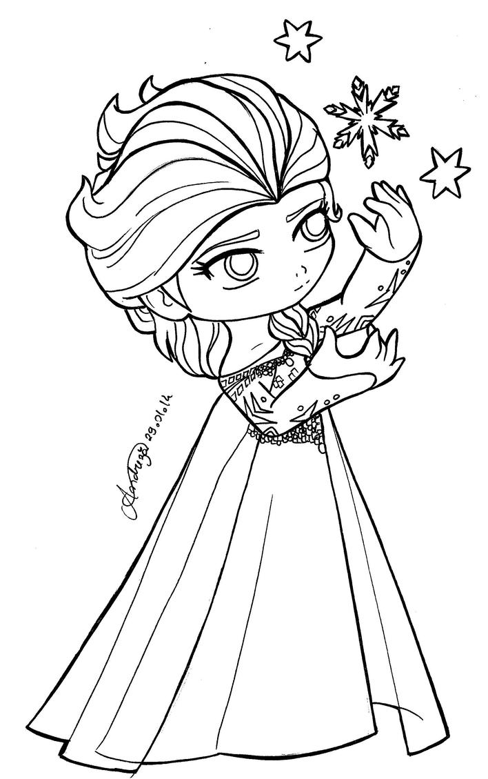 Chibi queen elsa frozen by tifayuy on deviantart for Coloring pages elsa