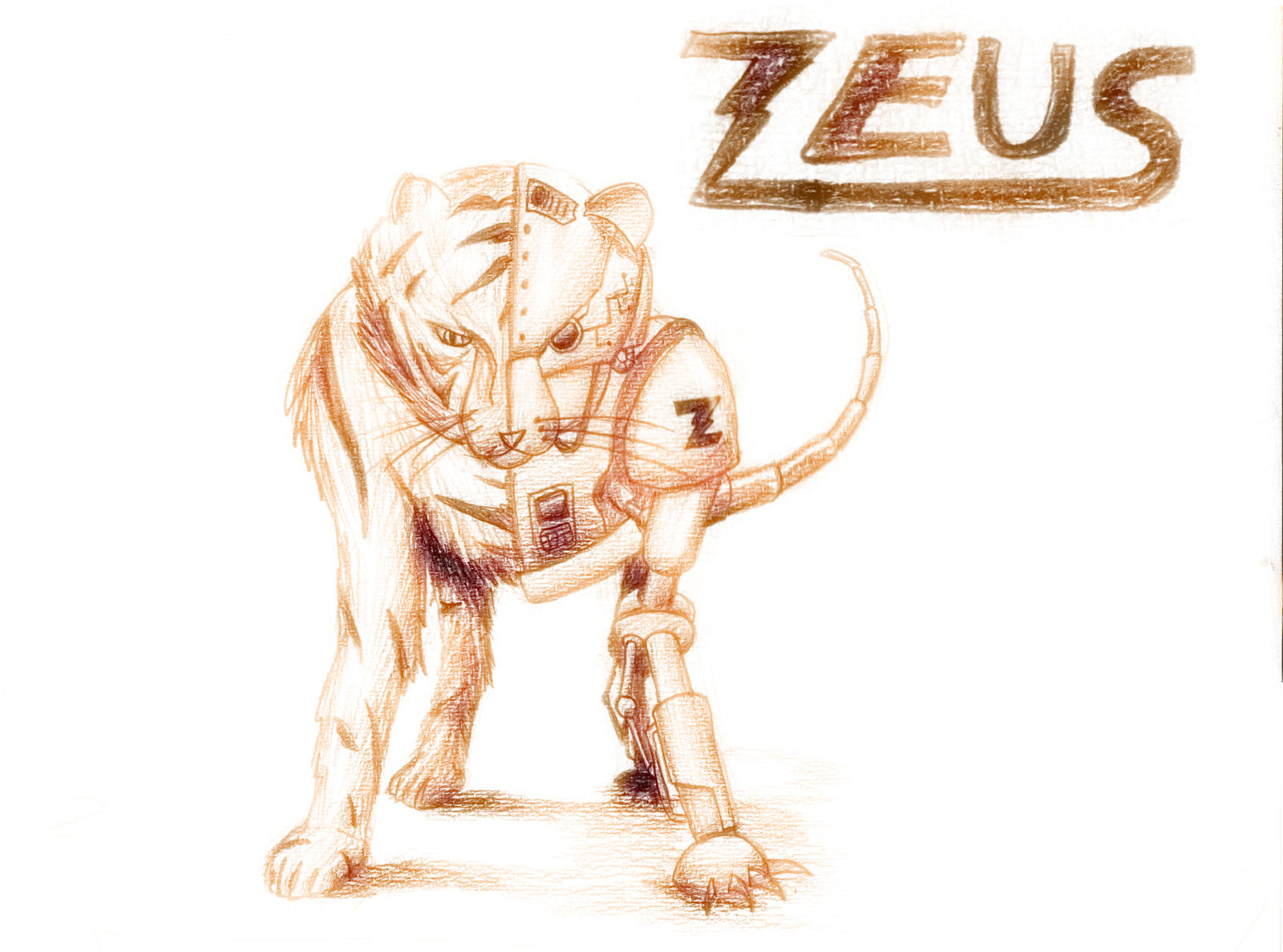 Zeus- Colored by BlackHatGuy on DeviantArt