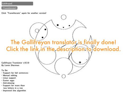 Gallifreyan Translator