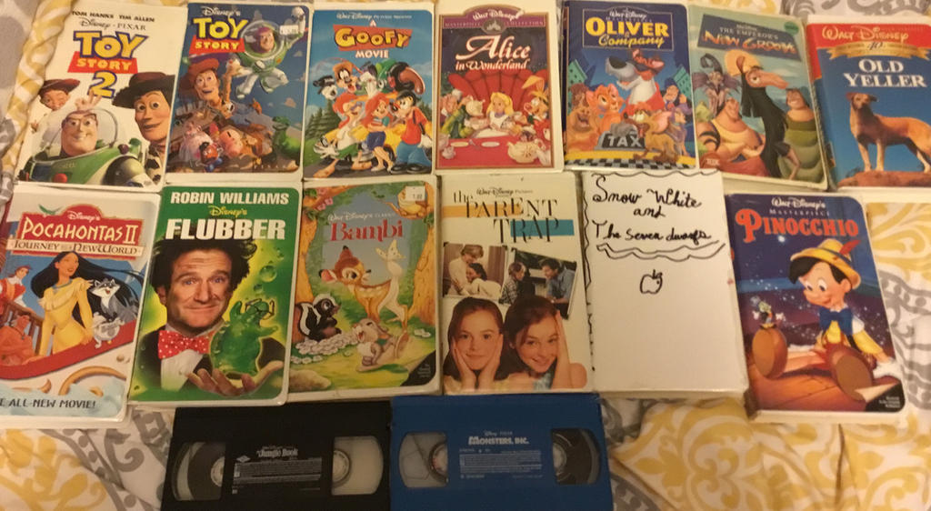 My Disney VHS Collection. Part 2. The Rest. by lionqueen1067
