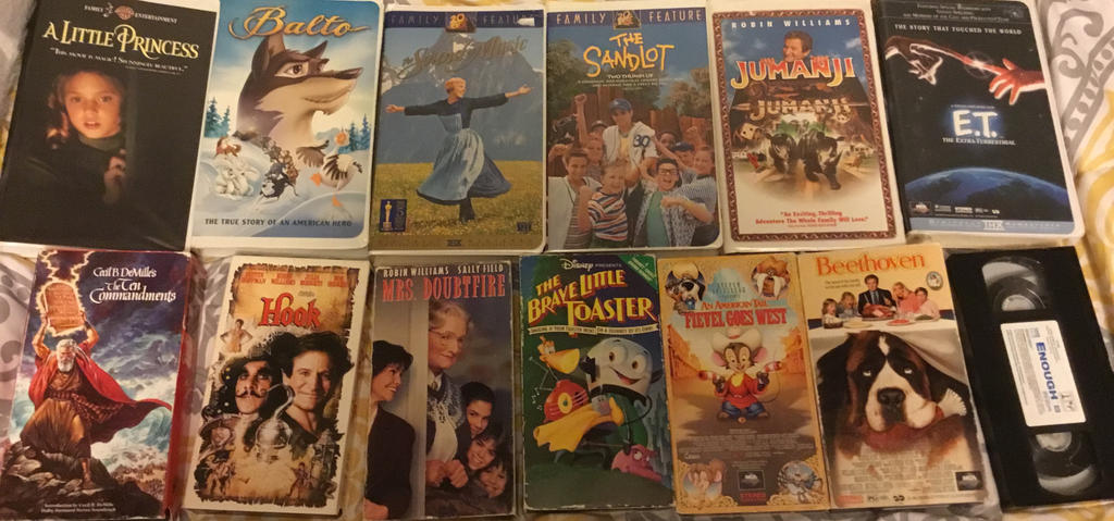 My Non-Disney VHS's. by lionqueen1067