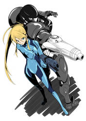 Zero Suit Samus and Samus Coloring *WIP*