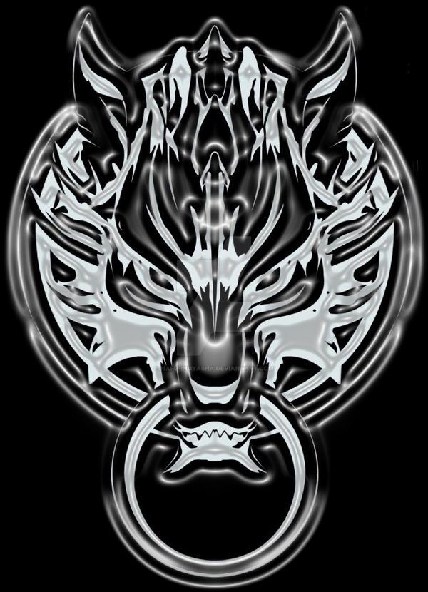 Fenrir Wolf/Cloudy Wolf logo by Hafu-Inuyasha on DeviantArt