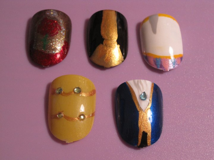 Beauty And The Beast Nails By Hatterlet On Deviantart